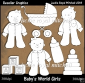 Babys World Girls Colour Your Own Reseller Clipart