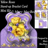 Yellow Roses - Stand-up Bracket Card Mini Kit