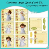 Christmas Angel Quick Card Kit