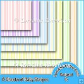 Baby Stripes 8 A4 Backing Papers
