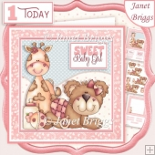SWEET BABY GIRL 7.5 New Baby or 1st Birthday Decoupage Kit