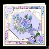 A Lovely Bouquet of Hydrangeas Mini Kit With Decoupage
