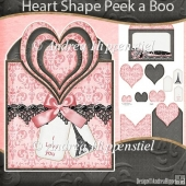 Heart Shape Peek a Boo Card Ohlala