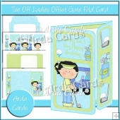 Tee Off Ladies Offset Gate Fold Card