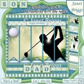 GOLF 7.5 Alphabet and Age Quick Card Kit Create Any Name