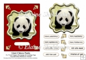 Chinese Giant Panda 5 x 7 Card Topper With Assorted Greetings