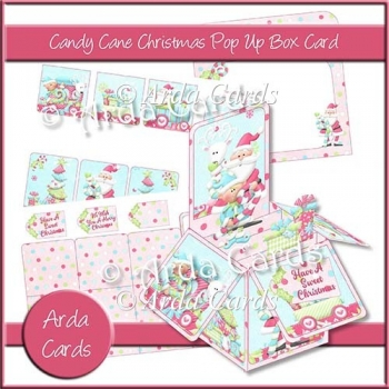 Candy Cane Christmas Pop Up Box Card