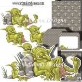 Snoozing Goblin Decpoupage Set