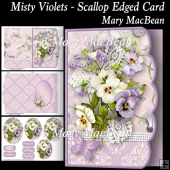 Misty Violets - Scallop Edged Card