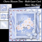 Cherry Blossom Time - Multi-Layer Card