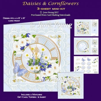 Daisies & Cornflowers - 3-Sheet Mini-Kit