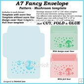 A7 Fancy Envelope - Pattern - Mushroom template