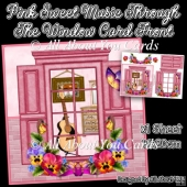 Pink Sweet Music Through The Window Card Front