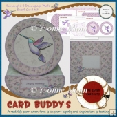 Hummingbird Decoupage Plate Easel Card Kit
