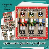 Nutcracker Soldiers Christmas Cardfront