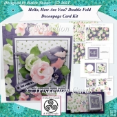 Hello, How Are You? Double Fold Decoupage Card