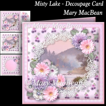 Misty Lake - Decoupage Card