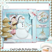 Make A Snowman Shadow Box Card Kit