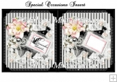 Special Occasion Feminine Floral Insert / Topper
