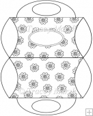 Floral Digitally Stamped Purse Pillow Box