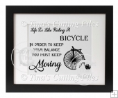 Life Is Like Riding A Bicyle vinyl quote