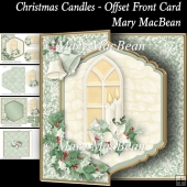 Christmas Candles - Offset Front Card