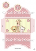 Pink Baby Animals Money Wallet