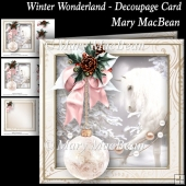 Winter Wonderland - Decoupage Card