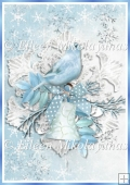 Winter Snowbird Backing Background Paper