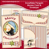 Snowflake Penguin Money Card & Envelope
