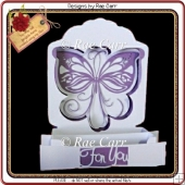 483 Butterfly Sliceform Card *Multiple MACHINE Formats*