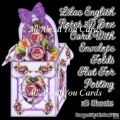 Lilac English Roses 3D Box Card Kit