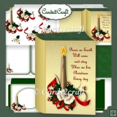 Christmas book candle card set
