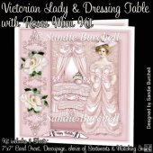 Victorian Lady & Dressing Table with Roses Mini Kit