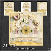 Vintage Pastel Shabby Chic Card Kit 1199