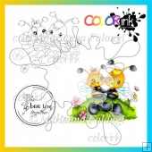 Bee together and sentiment Digi stamp