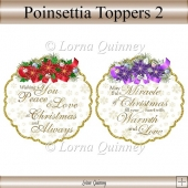 Poinsettia Toppers 2