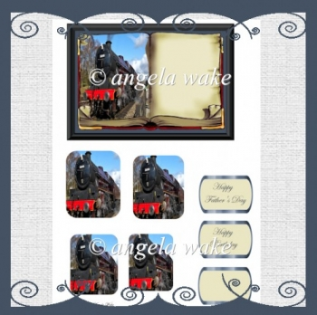 Leander steam train book style