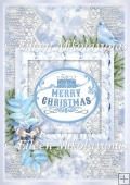 Snowflakes and Lace Christmas Backing Background Paper