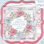 PASTEL POINSETTIA WREATH & VERSE 7.5 Decoupage & Insert Mini Kit