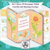 Bees Knees & Friends 3D Decoupage Tri Fold Card Kit