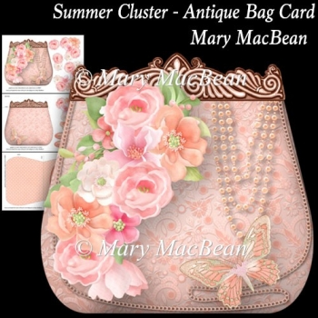 Summer Cluster - Antique Bag Card