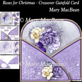 Roses for Christmas - Crossover Gatefold Card