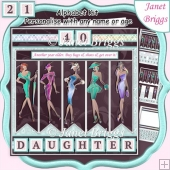 THE CATWALK 7.5 Alphabet and Age Quick Card Kit Create Any Name