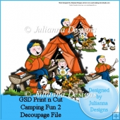 GSD Print n Cut Camping Fun 2 Decoupage Cutting file