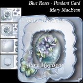 Blue Roses - Pendant Card