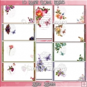 10 Blank Floral A5 Inserts