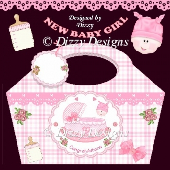 Rock A Bye Baby Girl Gift Basket and Tag
