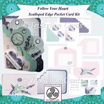 Follow Your Heart Scalloped Edge Pocket Card Kit