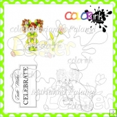 Jenny Easter Title and Sentiment Digital Stamps